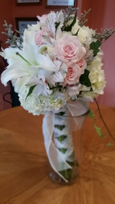 Soft Pink & Bright Whites Handtied Bouquet