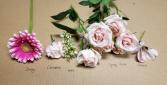 SOFT PINK Romance Corsage Colour Board