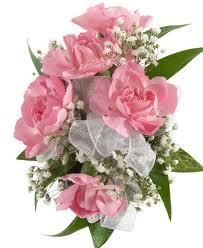 Soft Pink Miniature Carnation Wrist Corsage