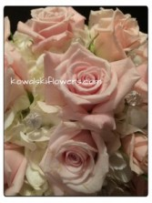 Soft Pink Roses & Hydrangeas Bridal Bouquet