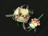 soft pinks boutonniere and corsage