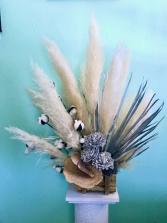 Soft Silver Dried Arrangement