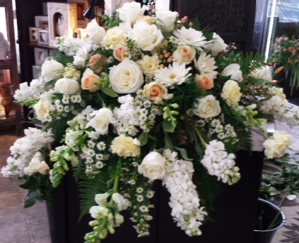 Soft Sympathies Casket Arrangement