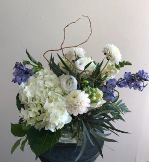 Peacefully  Whispy Vase Arrangement in Northport, NY   Hengstenberg's Florist