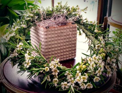 Soft White Hair Wreath