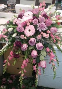 Softest Goodbye Casket Spread Funeral