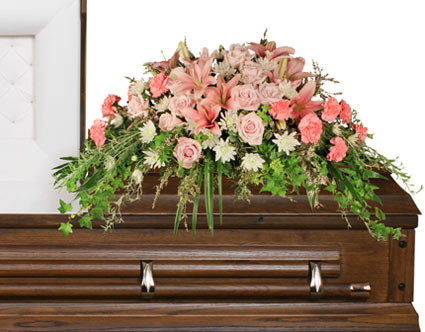 SOFTLY AT REST Casket Arrangement