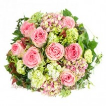 Softly Pink and Green Flowers Flower Bouquet