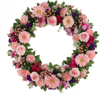 Softly pink wreath  Standing wreath