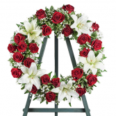 Softness and Love Funeral Wreath