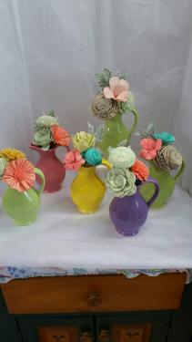 Sola Wood Flowers Bud Vase
