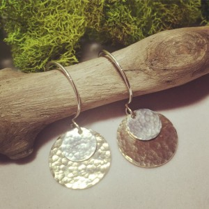 Solar Eclipse Earrings Limited Edition with Date Engraved on the back