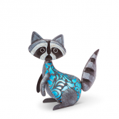 Solar Lighted Metal Raccoon