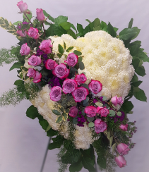 Solid Heart funeral flowers