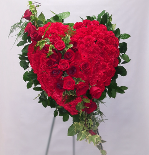 Solid Heart Red funeral flowers in Chatham, NJ | SUNNYWOODS FLORIST