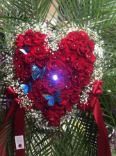 Solid Rose Heart Love heart