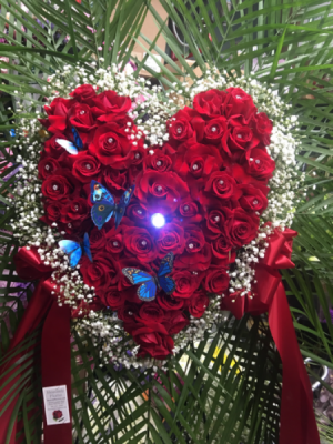 Solid Rose Heart Love heart  in Ozone Park, NY | Heavenly Florist