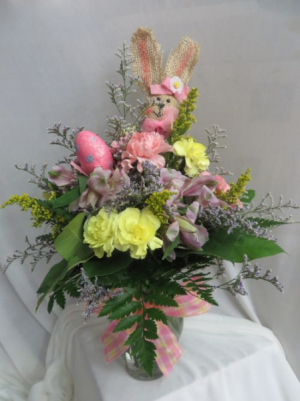 Some Bunny Loves You Fresh Easter Vased Arrangement  in Farmville, VA | CARTERS FLOWER SHOP
