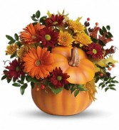Somethin' Pumpkin Fresh Keepsake Arrangement
