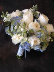 Something Blue Bridal bouquet