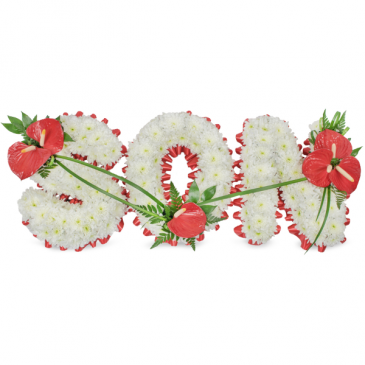 """""""SON"""" Floral Tribute Standing Wreath"""
