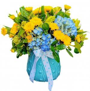 Son shine! Ceramic Vessel Arrangement  in Delray Beach, FL | Greensical Flowers Gifts & Decor