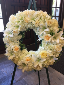 Songs of Serenity All White Sympathy Wreath