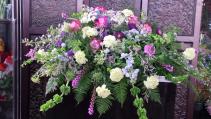 Soothing Garden Condolences  Casket Arrangement
