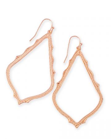 Sophee Drop Earrings In Rose Gold