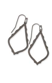 Sophia Drop Earrings In Gunmetal