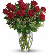 Sophisticated Dozen Red Roses
