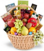 SOPHISTICATED GOURMET & FRUIT BASKET
