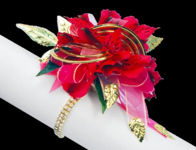 Sophisticated Red Wrist Corsage