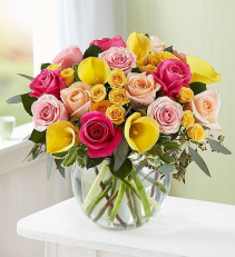 Sophisticated Rose & Calla Lily Medley assorted flowers