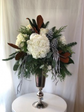 Sophisticated Silver  Holiday Arrangement