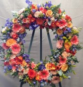 Sorbet Sunrise  Funeral Wreath