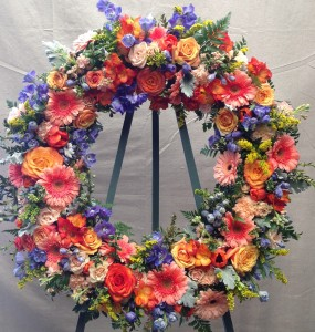 Sorbet Sunrise  Funeral Wreath