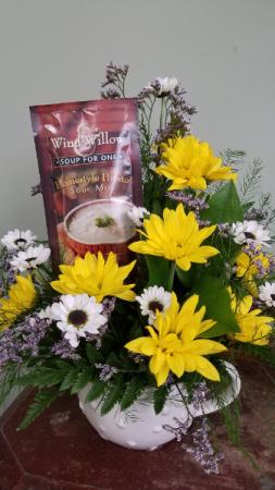 Souper Flowers! Fresh Arrangement