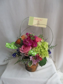 Southern Girl Fresh Mixed Arrangement in a Clay Pot