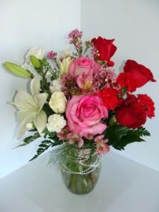 Southern Romance Mixed Valentine Vase Arrangement