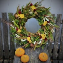 "Southern Style Magnolia Wreath 24"" Dried Wreath"