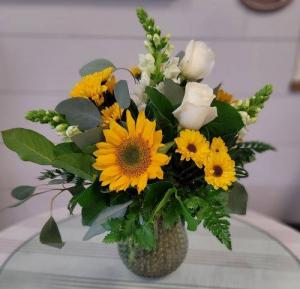 """Southern Sunshine"" Vased Arrangement in Auburn, AL 