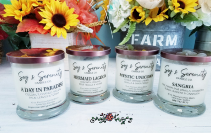 Soy & Serenity candles every day