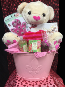 Spa Basket w/ Chocolates Basket