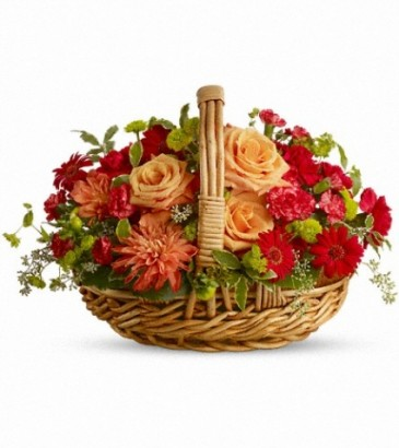 Spanish Garden Basket Basket  Arrangement