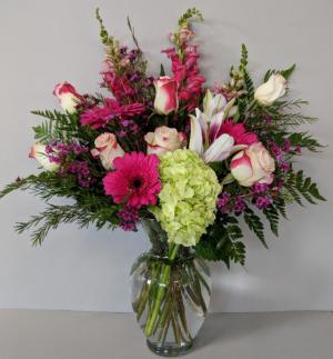 Spark of Romance Fresh Vase Arrangement in Gardner, KS | In Full Bloom Too