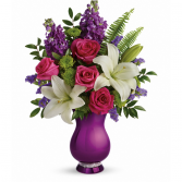 SPARKLE AND SHINE BOUQUET VASE ARANGMENT