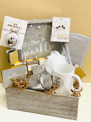 Sparkle and Shine Gift Basket in Riverside, CA | Willow Branch Florist of Riverside