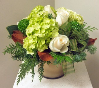 Sparkle Holiday Vased Arrangement, Compact