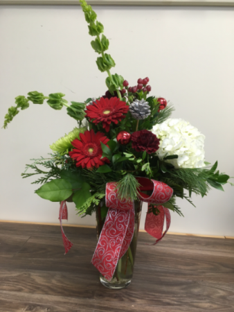 Sparkle of love  Fresh flower vase arrangement